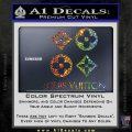 Louis Vuitton D4 Decal Set Sticker Sparkle Glitter Vinyl 120x120
