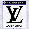 Louis Vuitton Logo D1 Decal Sticker Black Logo Emblem 120x120