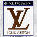 Louis Vuitton Logo D1 Decal Sticker Brown Vinyl 120x120