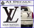 Louis Vuitton Logo D1 Decal Sticker Carbon Fiber Black 120x97