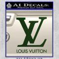 Louis Vuitton Logo D1 Decal Sticker Dark Green Vinyl 120x120