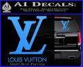 Louis Vuitton Logo D1 Decal Sticker Light Blue Vinyl 120x97