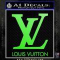 Louis Vuitton Logo D1 Decal Sticker Lime Green Vinyl 120x120