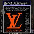 Louis Vuitton Logo D1 Decal Sticker Orange Vinyl Emblem 120x120