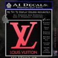 Louis Vuitton Logo D1 Decal Sticker Pink Vinyl Emblem 120x120
