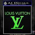 Louis Vuitton Logo D2 Decal Sticker Lime Green Vinyl 120x120