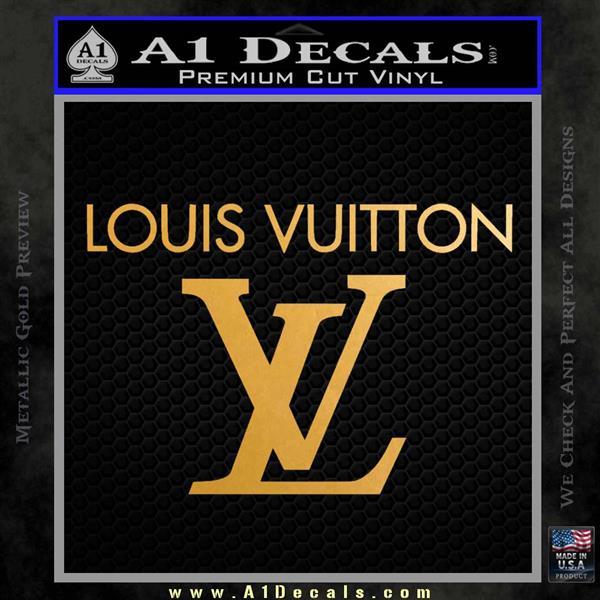 Louis Vuitton Logo D2 Decal Sticker 187 A1 Decals
