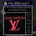 Louis Vuitton Logo D2 Decal Sticker Pink Vinyl Emblem 120x120