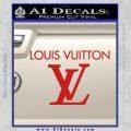 Louis Vuitton Logo D2 Decal Sticker Red Vinyl 120x120