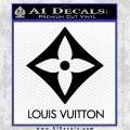 Louis Vuitton SQ Decal Sticker Black Logo Emblem 120x120