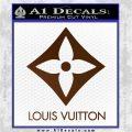 Louis Vuitton SQ Decal Sticker Brown Vinyl 120x120