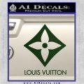 Louis Vuitton SQ Decal Sticker Dark Green Vinyl 120x120