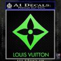 Louis Vuitton SQ Decal Sticker Lime Green Vinyl 120x120