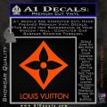 Louis Vuitton SQ Decal Sticker Orange Vinyl Emblem 120x120