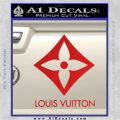 Louis Vuitton SQ Decal Sticker Red Vinyl 120x120