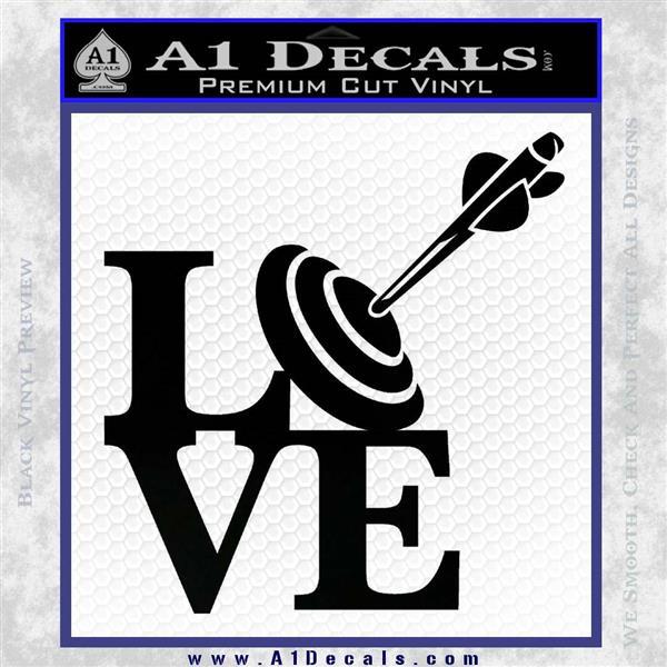 Love Archery SQ Decal Sticker Black Logo Emblem