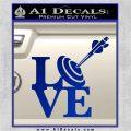 Love Archery SQ Decal Sticker Blue Vinyl 120x120