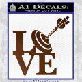 Love Archery SQ Decal Sticker Brown Vinyl 120x120