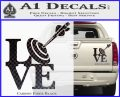 Love Archery SQ Decal Sticker Carbon Fiber Black 120x97