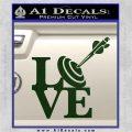 Love Archery SQ Decal Sticker Dark Green Vinyl 120x120