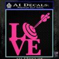 Love Archery SQ Decal Sticker Hot Pink Vinyl 120x120