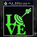 Love Archery SQ Decal Sticker Lime Green Vinyl 120x120