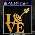 Love Archery SQ Decal Sticker Metallic Gold Vinyl 120x120