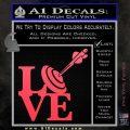 Love Archery SQ Decal Sticker Pink Vinyl Emblem 120x120
