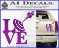 Love Archery SQ Decal Sticker Purple Vinyl 120x97