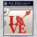 Love Archery SQ Decal Sticker Red Vinyl 120x120