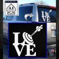 Love Archery SQ Decal Sticker White Emblem 120x120