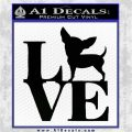 Love Chihuahua Decal Sticker Black Logo Emblem 120x120
