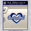 Love Country Living Decal Sticker Blue Vinyl 120x120