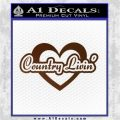 Love Country Living Decal Sticker Brown Vinyl 120x120