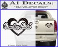 Love Country Living Decal Sticker Carbon Fiber Black 120x97