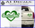 Love Country Living Decal Sticker Green Vinyl 120x97