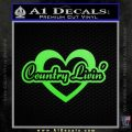 Love Country Living Decal Sticker Lime Green Vinyl 120x120