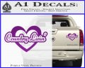 Love Country Living Decal Sticker Purple Vinyl 120x97