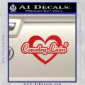 Love Country Living Decal Sticker Red Vinyl 120x120