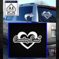 Love Country Living Decal Sticker White Emblem 120x120