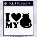 Love My Cat Decal Sticker Black Logo Emblem 120x120