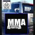 MMA Fighter Decal Sticker White Emblem 120x120
