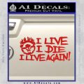 Mad Max Fury Road I Live Again Decal Sticker Red Vinyl 120x120