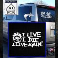 Mad Max Fury Road I Live Again Decal Sticker White Emblem 120x120