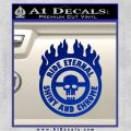 Mad Max Fury Road Ride Eternal Shiny Chrome Decal Sticker Blue Vinyl 120x120