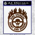 Mad Max Fury Road Ride Eternal Shiny Chrome Decal Sticker Brown Vinyl 120x120