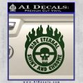 Mad Max Fury Road Ride Eternal Shiny Chrome Decal Sticker Dark Green Vinyl 120x120