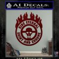 Mad Max Fury Road Ride Eternal Shiny Chrome Decal Sticker Dark Red Vinyl 120x120