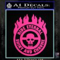 Mad Max Fury Road Ride Eternal Shiny Chrome Decal Sticker Hot Pink Vinyl 120x120