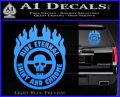 Mad Max Fury Road Ride Eternal Shiny Chrome Decal Sticker Light Blue Vinyl 120x97